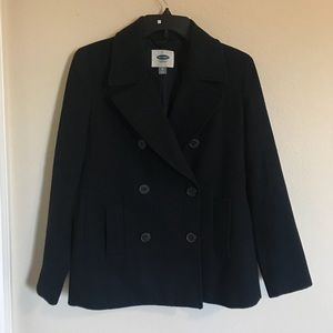 Navy Blue Old Navy Double Breasted Pea Coat Jacket